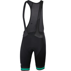 Sportful Bodyfit Team Classic Bib Shorts Herr black/bora green